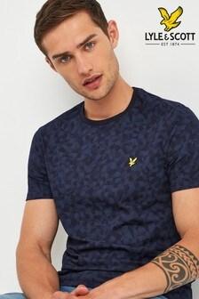 Lyle & Scott Navy Geo Print T-Shirt