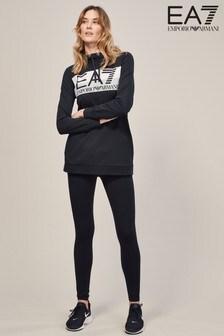 Emporio Armani EA7 Black Logo Hoody And Legging Tracksuit