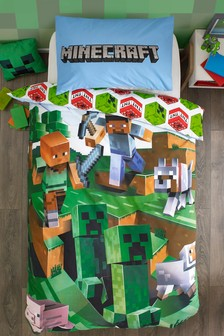 Zestaw pościeli Minecraft Overworld: poszwa na kołdrę i poszewka na poduszkę
