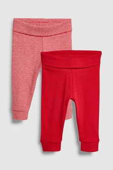 Rib Leggings Two Pack (0mths-2yrs)