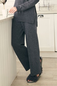 Premium Knit Wide Leg Pants With Cashmere