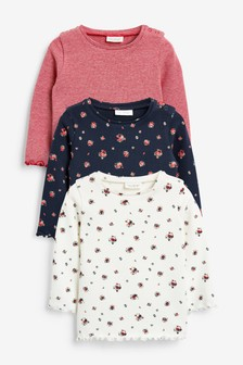 3 Pack Ditsy Tops (0mths-2yrs)