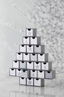 Silver Glitter Advent Calendar