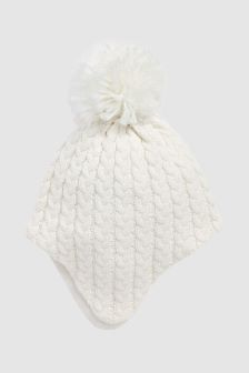 Cable Knit Pom Hat (0mths-2yrs)