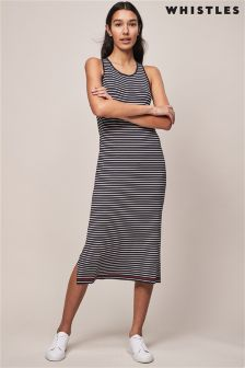 Whistles Stripe Midi Vest Knit Dress