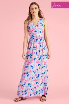 Joules Sky Blue Ditsy Anastasia Maxi Dress