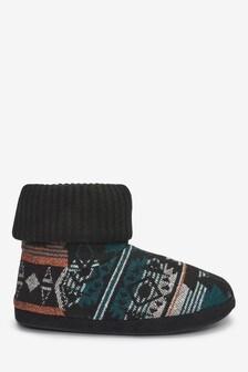 Aztec Slipper Boots