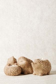 Soportes para velas con forma de erizo