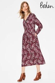 Boden Red Easy Midi Dress