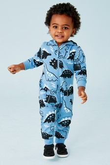 02218243f813 Blue Dino All Over Print All-In-One (3mths-7yrs)