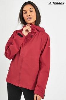adidas Terrex Maroon Rain Jacket