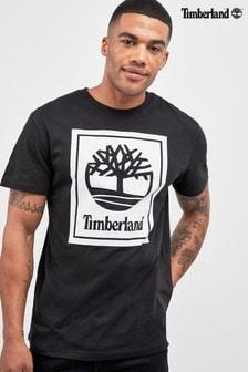 Timberland® Black Stack Logo Tee