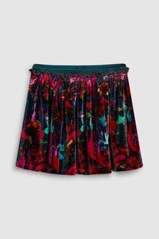 Велюровая юбка с принтом (3 мес.-6 лет)