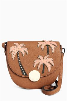 Embellished Saddle Bag