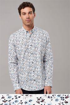 Koszula z długim rękawem w motywy kwiatowe