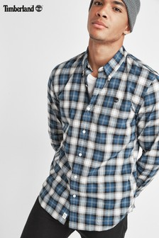 Timberland® Blue Slim Fit Tartan Shirt