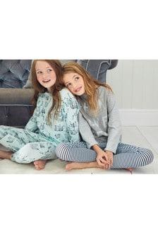 מארז שתי פיג'מות עם דוגמת פינגוין (גילאי 3 עד 16)