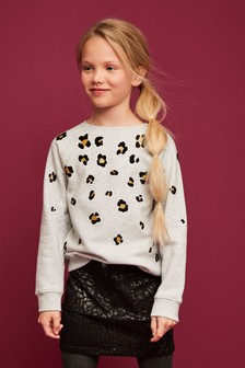 Animal Denim Skirt (3-16 lat)