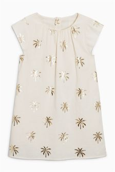 Palm Tree Dress (3-16yrs)