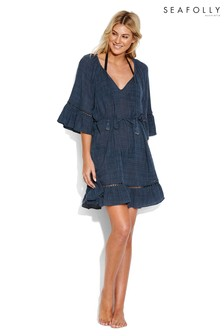 Seafolly Blueprint Belle Sleeve Cover-Up