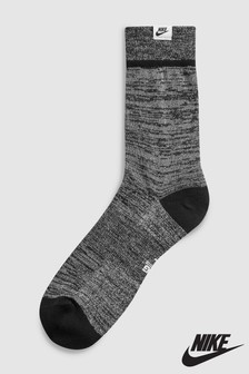 Nike Unisex Black Metallic Crew Sock
