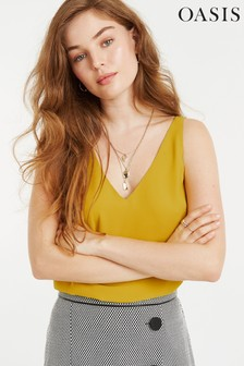 Oasis Yellow Formal Vest Top