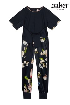 5773b0e42 baker by Ted Baker Younger Girls Plisse Jumpsuit