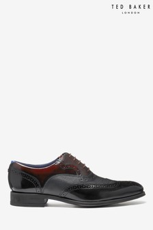Ted Baker Black Mitamm Brogue Shoes