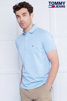Tommy Jeans Blue Slim Fit Polo Top