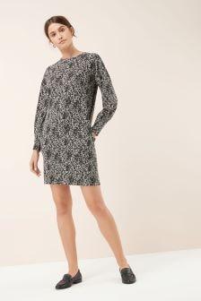 Animal Print Cosy Sweat Dress