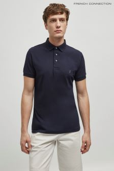 French Connection Marine/Gunmetal Basic Sneezy Polo