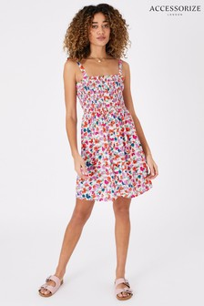 Accessorize Pink Floral Dress