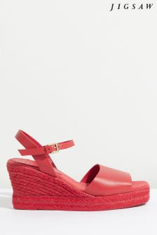 Jigsaw Sol Square Toe Heeled Espadrille
