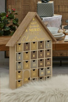 Drewniany kalendarz adwentowy