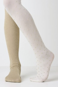 Sparkle Tights Two Pack (Younger)