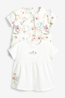 Floral T-Shirt Two Pack (0mths-2yrs)