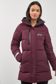 Helly Hansen Burgundy Puffy Parka