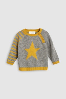 Star Knit Jumper (0mths-2yrs)