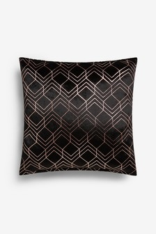 Metallic Velvet Geo Cushion
