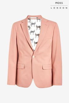 Moss London Skinny Fit Dusty Rose Unstructured Jacket
