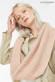 Accessorize Pink Bobble Stitch Snood