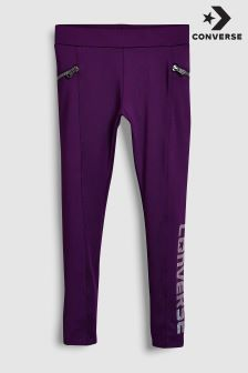 Converse Purple Zip Legging