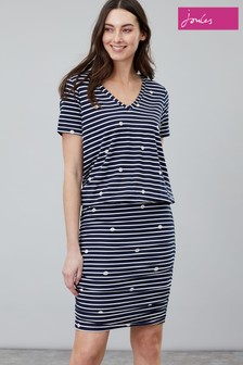 Joules Candice V-Neck Jersey Dress
