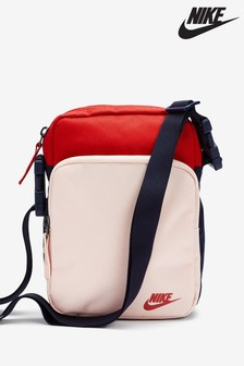 Nike Pink/Red Heritage 2.0 Small Items Bag