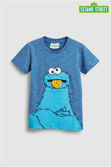 Cookie Monster Zip Short Sleeve T-Shirt (3mths-6yrs)