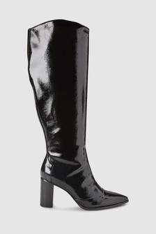 Knee High Patent Western Boots