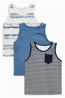 Stripe Vests Three Pack (3mths-6yrs)