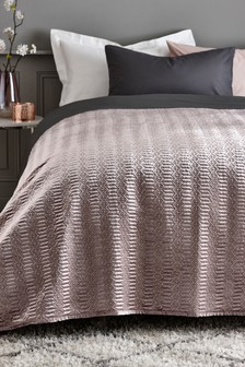 Geo Quilted Velvet Throw