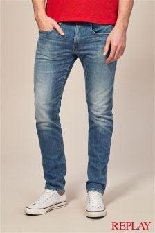 Эластичные джинсы зауженного кроя Replay® Anbass