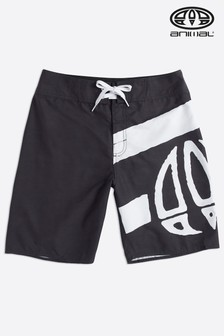 Animal Black Paulo Fixed Waist Boardshort